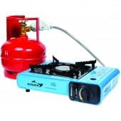 Плита газовая универсальная Kovea Portable Range (пьезоподжиг, штуцер для подсоединения шланга, пластиковый кейс)