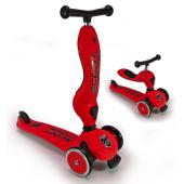 Детский трехколесный самокат с сиденьем Scoot&Ride HighwayKick 1 (Seat) (красный)