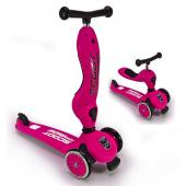 Детский трехколесный самокат с сиденьем Scoot&Ride HighwayKick 1 (Seat) (розовый)